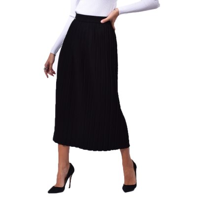 Combos Knitwear Skirt (FW20-38 BLACK)