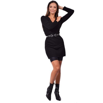 Combos Knitwear Dress (FW20-61 BLACK)