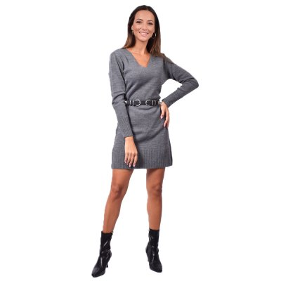 Combos Knitwear Dress (FW20-61 GREY)