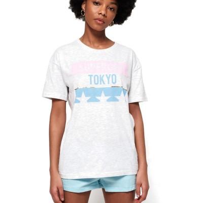 Superdry TOKYO STARS PORTLAND TEE ΜΠΛΟΥΖΑ ΓΥΝΑΙΚΕΙΟ (G10154YT 54G)