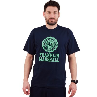 Franklin and Marshall Logo Crest S/S Tee (JM3008 205)