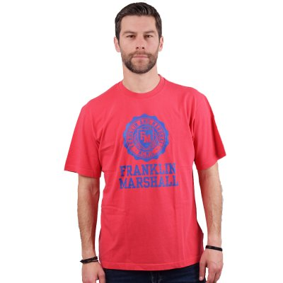 Franklin and Marshall Logo Crest S/S Tee (JM3008 310)