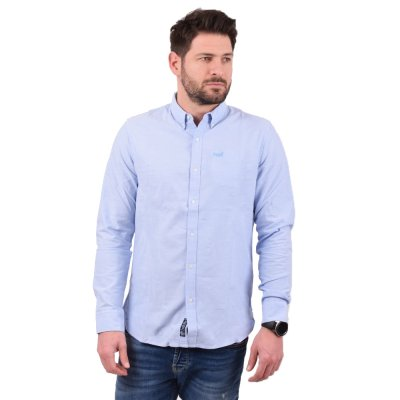 Superdry CLASSIC UNIVERSITY OXFORD L/S SHIRT ΠΟΥΚΑΜΙΣΟ ΑΝΔΡΙΚΟ (M4010013A BYE)