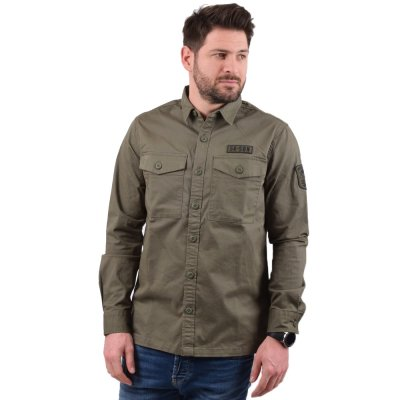 Superdry CORE MILITARY PATCHED L/S SHIRT ΠΟΥΚΑΜΙΣΟ ΑΝΔΡΙΚΟ (M4010023A RT7)