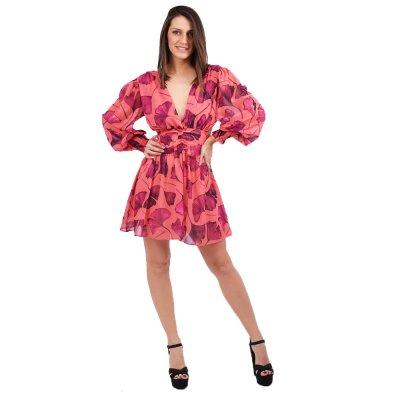 Mallory the Label Bolero wrap dress long sleeve (MAL-BOLERO PURPLE)