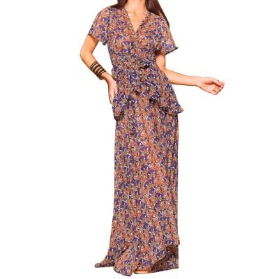 Mallory the Label MAXI RUFFLE DRESS (MAL-JAMELIA PRINT)