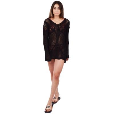 Combos Πλεκτό Φόρεμα (S-28 BLACK)