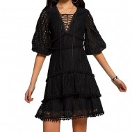Peace and Chaos DAY DREAMER DRESS BLACK (S19910B BLACK)