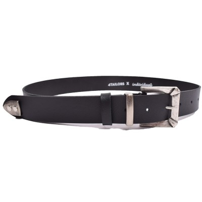 4Tailors Wide Belt With Metal Badge Endin (SS19-167 BLACK)