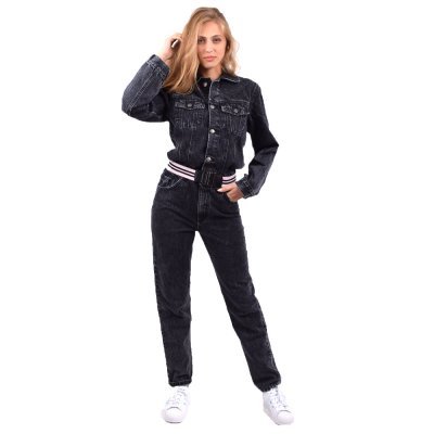 Sun Set Go Denim Jumpsuit (SSG DENIM JUMPSUIT BLACK)