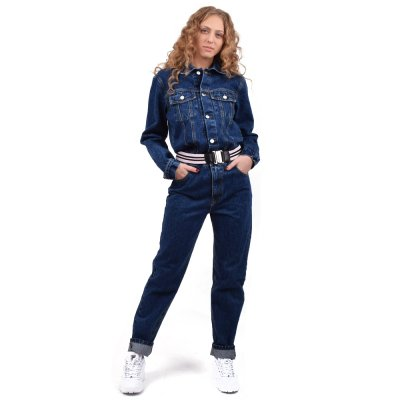 Sun Set Go Denim Jumpsuit (SSG DENIM2 JUMPSUIT DARK BLUE)