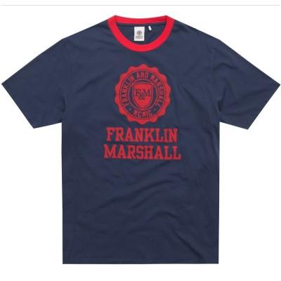 Franklin and Marshall TSHIRT JERSEY ROUND NECK SHORT (TSMF106ANS19 0167)