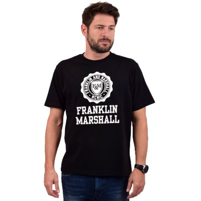 Franklin and Marshall SHIRT JERSEY ROUND NECK SHORT (TSMF333ANW19 0021)