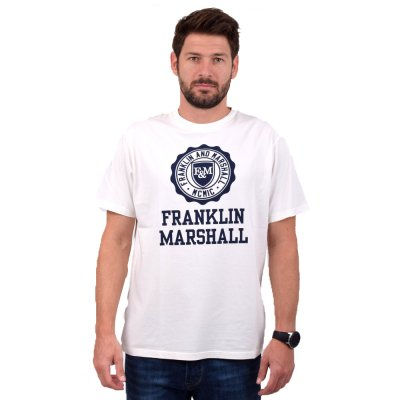 Franklin and Marshall SHIRT JERSEY ROUND NECK SHORT (TSMF333ANW19 0178)