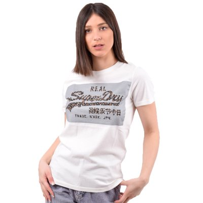Superdry VL REFLECTIVE BOX ENTRY TEE ΜΠΛΟΥΖΑ ΓΥΝΑΙΚΕΙΑ (W1010018A 39E)