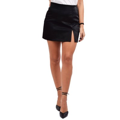 Peace and Chaos STREET STYLE ECO LEATHER SKIRT (W20304 BLACK)